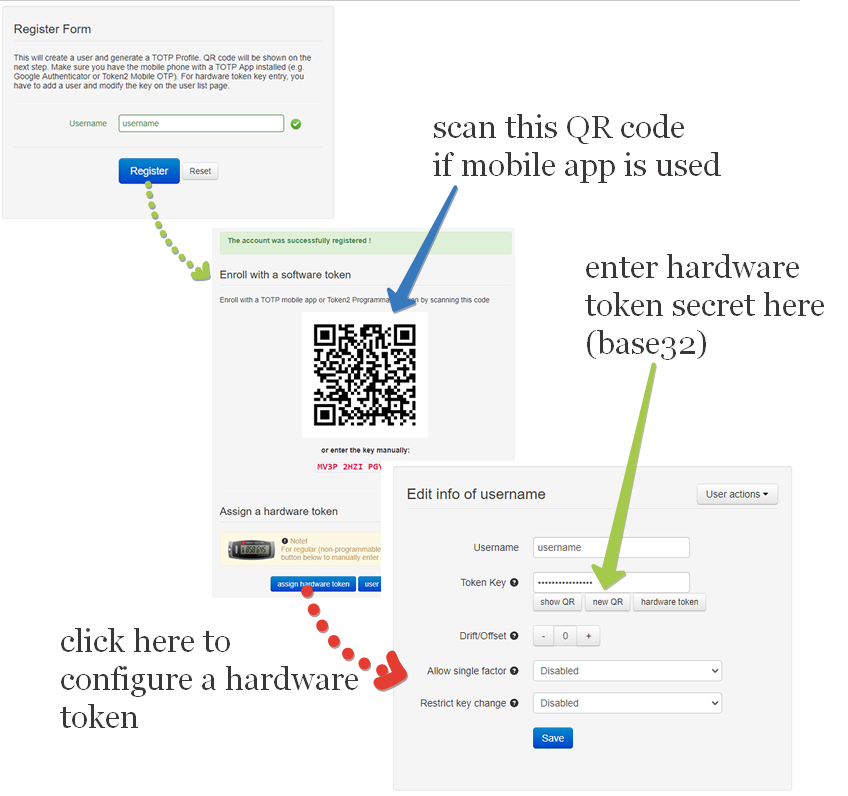 Hardware tokens for two-factor authentication with FortiGate