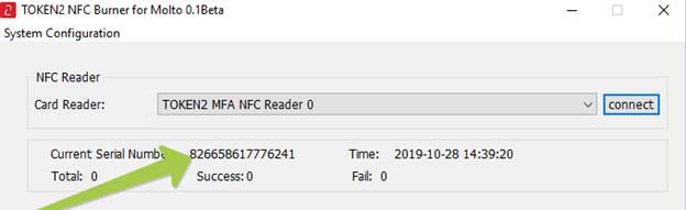 Token2 NFC Burner for Molto 0.1 - Windows App